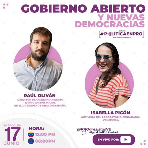 #PolíticaEnPro Gobierno Abierto y Nuevas Democracias